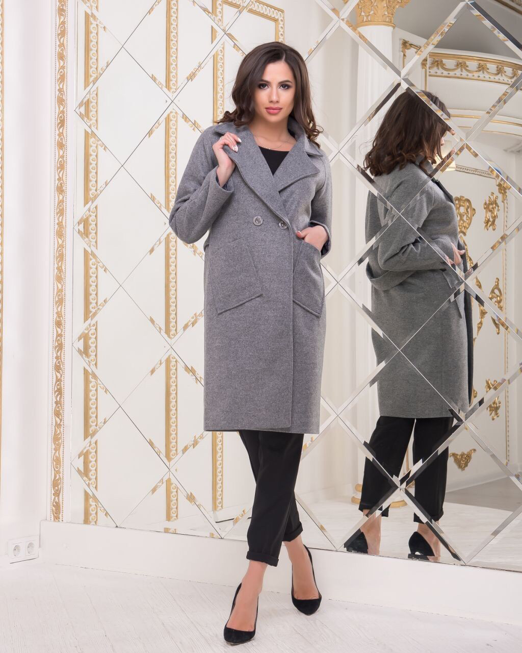 Пальто женское демисезонное  шерстяное