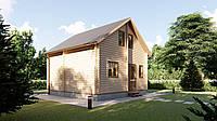 Дачный дом 6х6 м из бруса с мансардой в Украине. Кредитование строительства деревянных домов