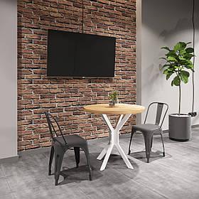 Обеденный стол Фолд белый бархат/бук мексиканский (Металл дизайн)