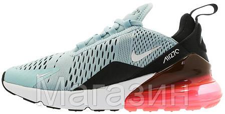 Женские кроссовки Nike Air Max 270 Ocean Bliss/White - Black - Hot Punch AH6789 400 Найк Аир Макс 270 голубые, фото 2