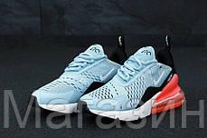 Женские кроссовки Nike Air Max 270 Ocean Bliss/White - Black - Hot Punch AH6789 400 Найк Аир Макс 270 голубые, фото 3