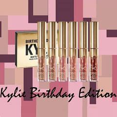 В стиле Kylie Birthday Edition Кайли Дженер 6 в 1 матовая помада