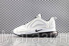 Мужские спортивные кроссовки Nike Air Max 720 Carbone White/Black AR9293-100 (Найк Аир Макс 720) белые, фото 2