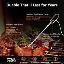 Bluetooth цифровой мясной термометр с зондом и металлическим зажимом для барбекю, фото 3