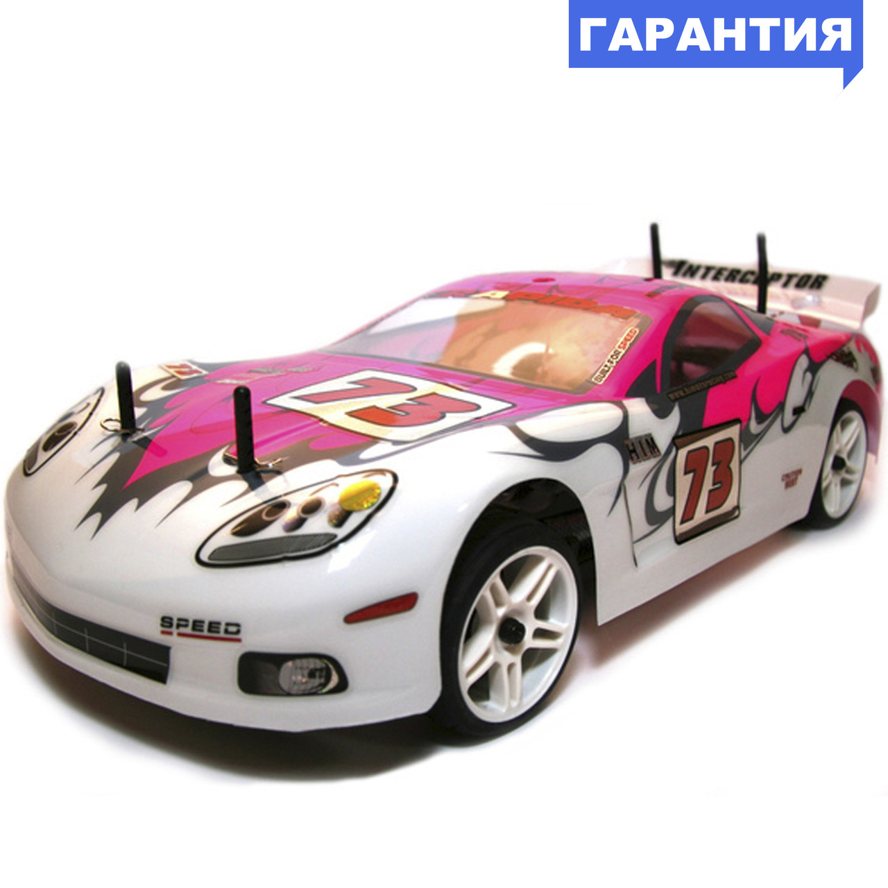 Шоссейная 1:10 Himoto NASCADA HI5101 Brushed (розовый)