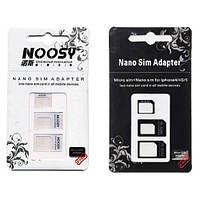 Nano, Micro Sim адаптер 3в1, перехідник Iphone 4 5