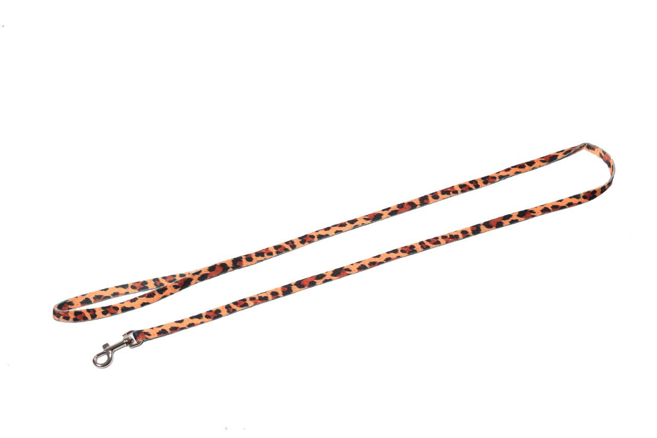 Поводок для собаки ленточный нейлоновый, леопард
