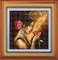 Набор для рисования камнями (холст) «Испанка с цветком» LasKo