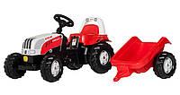 Детский трактор на педалях Rolly Toys 12510, с прицепом
