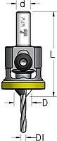 Зенковка с цилиндрическим хвостовиком и полимерным ограничителем D3,5/10,0