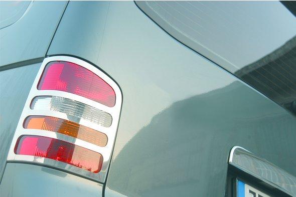 Накладки на задние фонари ( 2 шт, нерж) Volkswagen T5 Transporter 2003-2010 гг.