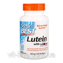 Doctor's Best, Лютеин с Lutemax 2020, 20 мг, 180 капсул
