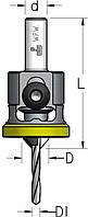 Зенковка с цилиндрическим хвостовиком и полимерным ограничителем D4,0/10,0, фото 1