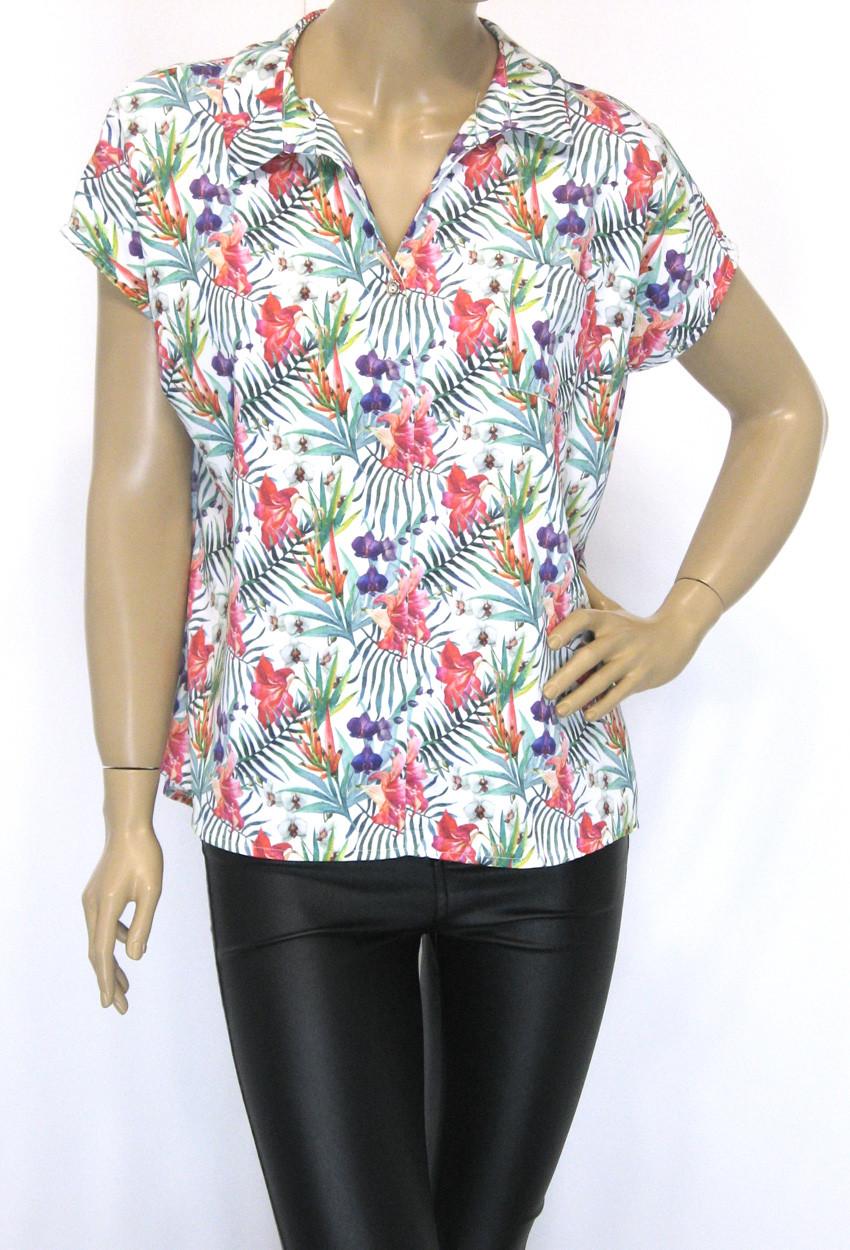 Атласная блузка с шелком