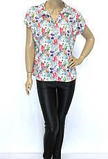 Атласная блузка с шелком, фото 3