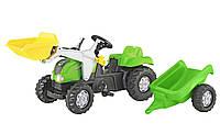 Детский трактор на педалях Rolly Toys 23134, с прицепом и ковшом