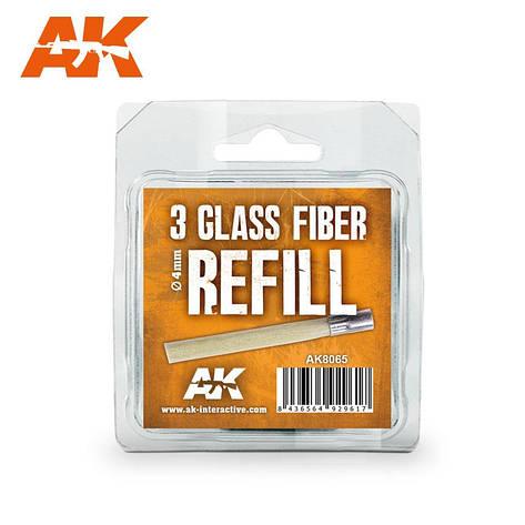 Набор стержней 3 шт. для абразивного карандаша Ø 4 мм. AK-INTERACTIVE AK-8065, фото 2