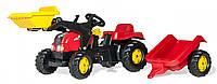 Детский трактор на педалях Rolly Toys 23127, с прицепом и ковшом