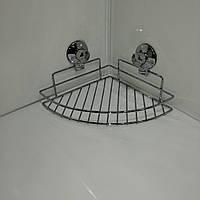 Угловая полочка на вакуумных присосках 20*20, фото 1