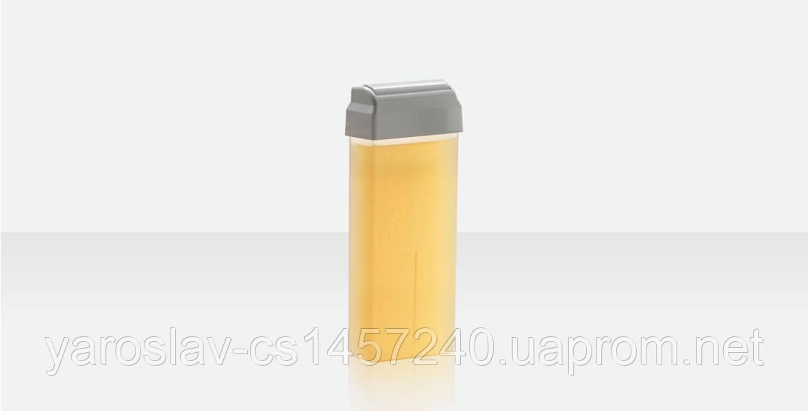 Воск в кассете Натуральный 100 г, широкий ролик Ital Wax Италия