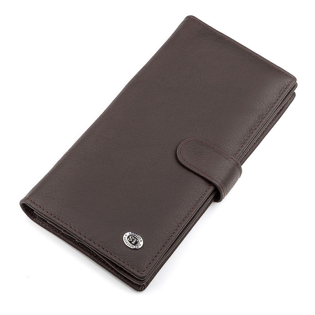 9db48edc7d02 Мужской купюрник ST Leather 18366 (ST147) из натуральной кожи Коричневый,  Коричневый