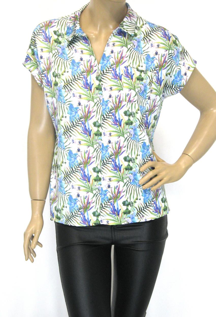 Стильна жіноча атласна блузка-сорочка