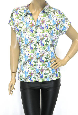 Стильна жіноча атласна блузка-сорочка, фото 2