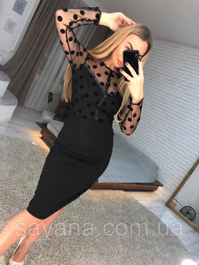блуза женская из сетки-горох интернет