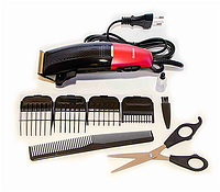 Машинка для стрижки волос Gemei GM807 с титановыми ножами 4 насадки + ножницы