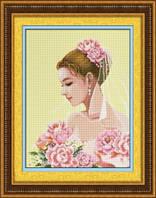 Набор для рисования камнями (холст) «Невеста» LasKo