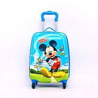 Детский дорожный чемодан на 4-х колесах Микки Маус