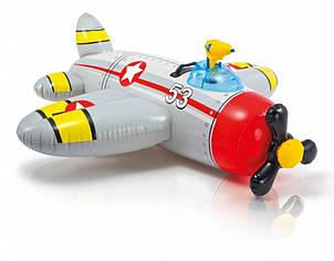Надувной плотик Intex 57537(Grey) Самолетик с водным пистолетом