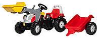 Детский трактор на педалях Rolly Toys 23936, с прицепом и ковшом