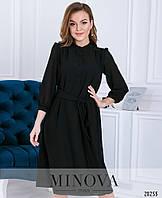 Шифоновое платье-рубашка прямого кроя на подкладке размеры S-ХL, фото 1