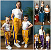 Дитячі спортивні штани з лампасами мама+донька/син 18389-1