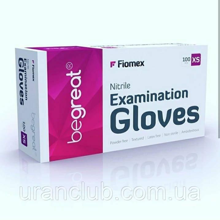 Перчатки Fiomex Begreat текстурированные, без пудры, нестерильные 100 шт