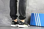 Мужские кроссовки Adidas (черно-белые) , фото 2