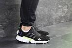 Мужские кроссовки Adidas (черно-белые) , фото 4
