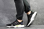Мужские кроссовки Adidas (черно-белые) , фото 3