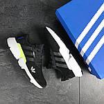 Мужские кроссовки Adidas (черно-белые) , фото 5
