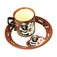 """Детская посуда из керамики """"Коты Матроскины"""", посуда для детей 2 предмета"""