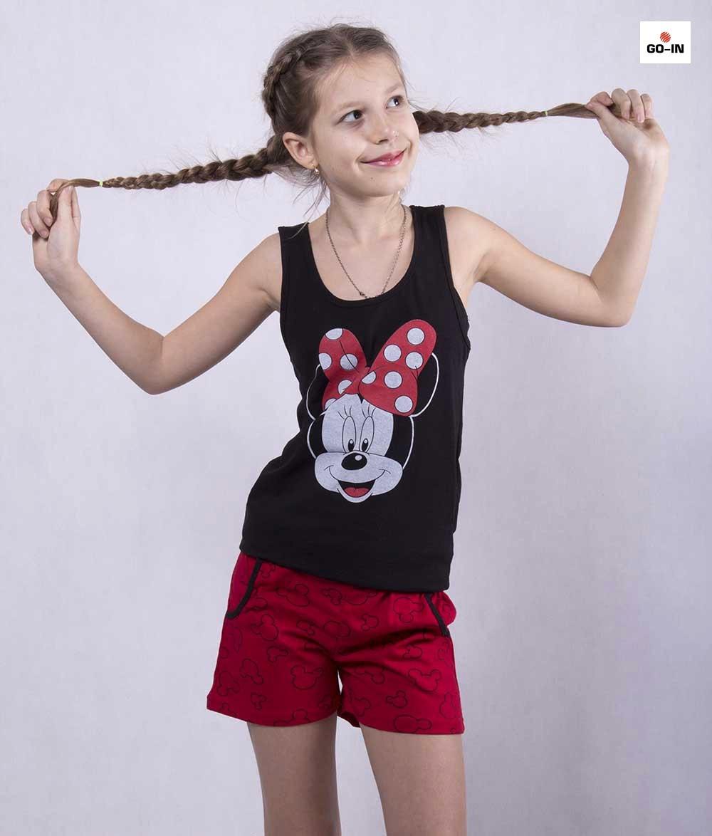 """Детская летняя пижама футболка с шортами """"Минни Маус"""" р.36-40"""