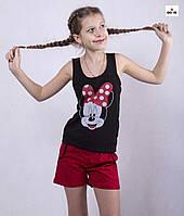 """Піжама дитяча літня футболка з шортами """"Мінні Маус"""" р. 36-40"""