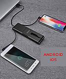 PowerBank 5000mAh 3в1: портативний кабель для передачі даних Type-C, USB, micro-USB, Apple. Швидка Зарядка, фото 6