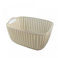 Ящик, корзина для хранения в ванной бежевая