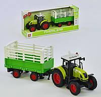 Трактор с прицепом WY 900 H, инерция, звук, свет