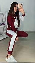 Модный спортивный костюм, кофта с капюшоном и штаны, размеры от 42 до 52 Турция, фото 2