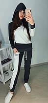 Модный спортивный костюм, кофта с капюшоном и штаны, размеры от 42 до 52 Турция, фото 3