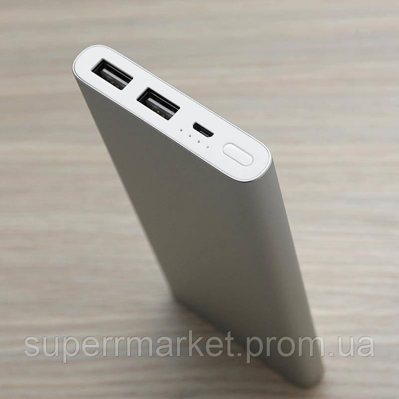 Универсальный аккумулятор Xiaomi Mi Power 2 10000 mAh Silver Quick Charge 3.0 2USB