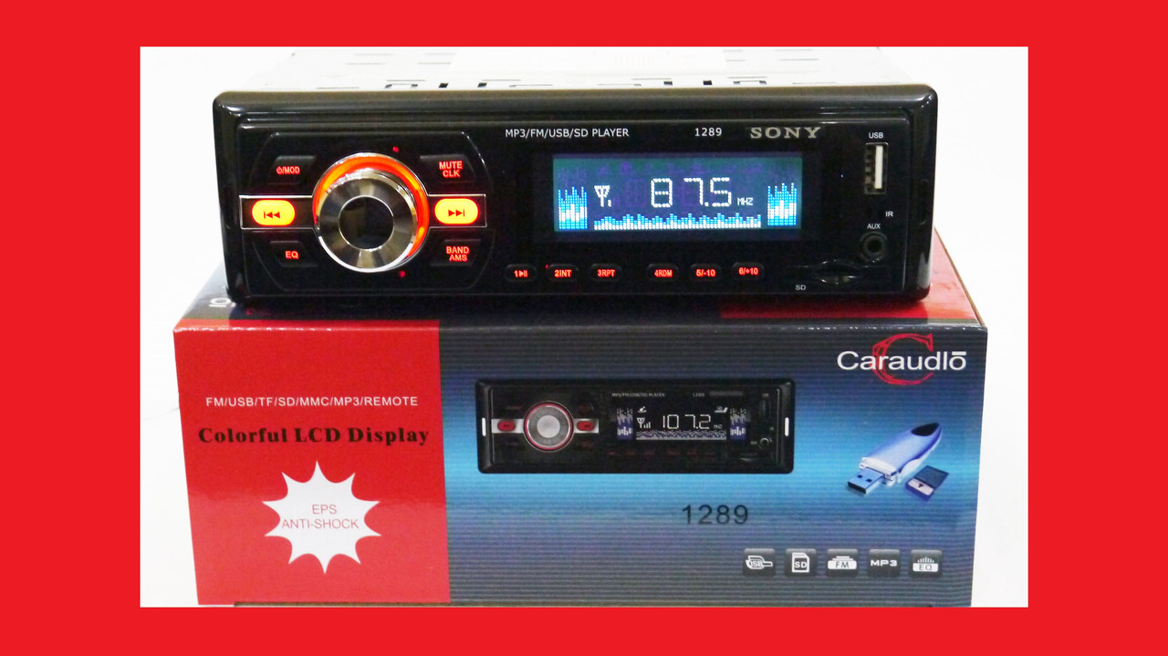 Автомагнітола Sony 1289 ISO - MP3+FM+USB+microSD-карта